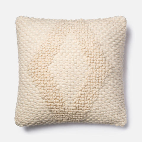 Magnolia Home Ivory Knit Diamond Pillow