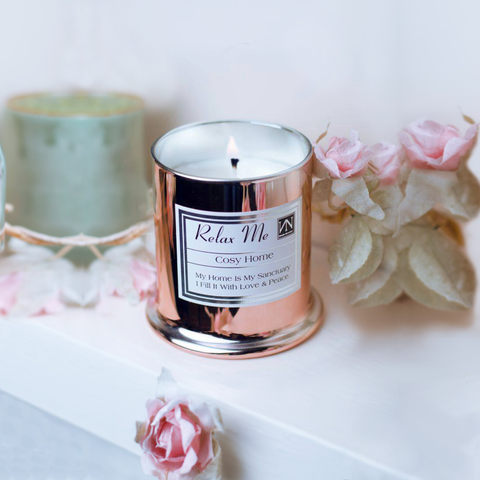 Inspirational Gift - Elegant Rose Gold Bell Shaped Scented Soy Wax Candle