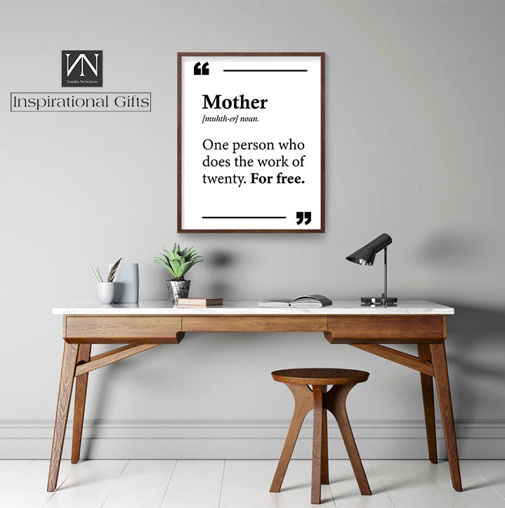 Inspirational Statement Digital Design For Mother - Mother Definition - NN Inspirational Gifts