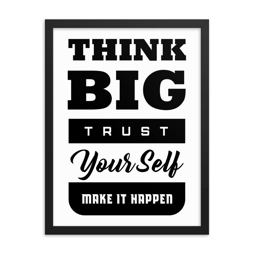 Framed Inspirational Poster Gift - Think Big - NN Inspirational Gifts
