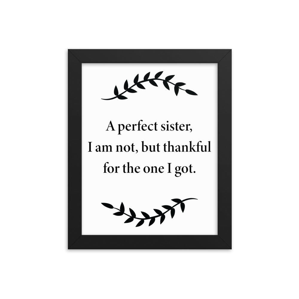 Inspirational Poster for Sister - A Perfect Sister - NN Inspirational Gifts