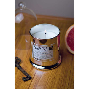 Grapefruit & Basil Scented Inspirational Candle - Silver Bell - NN Inspirational Gifts