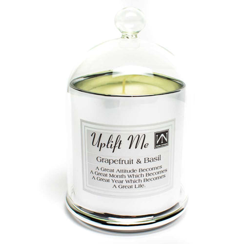 Grapefruit & Basil Scented Candle - Silver Bell - NN Inspirational Gifts