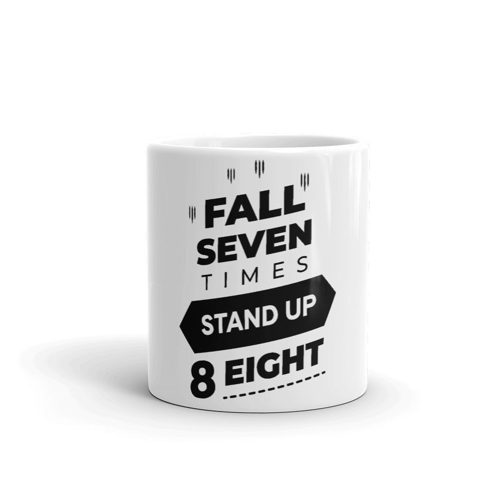 Motivational Gift Mug - Fall Seven Times Stand Up Eight - NN Inspirational Gifts