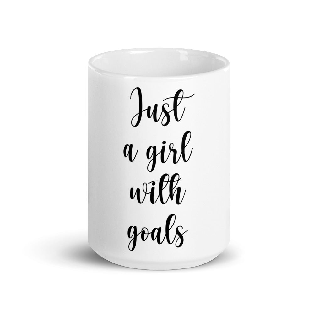 Gift Mug For Girls - Just A Girl With Goals - NN Inspirational Gifts