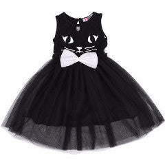 Black  Cute Cat Lace Dress