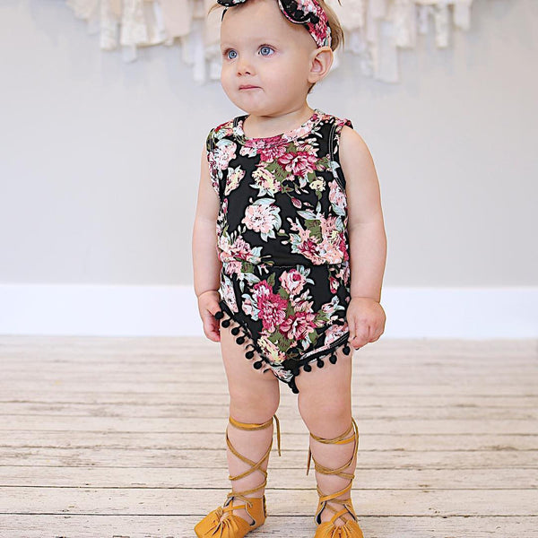 Adorable Floral Baby Girls Bodysuit