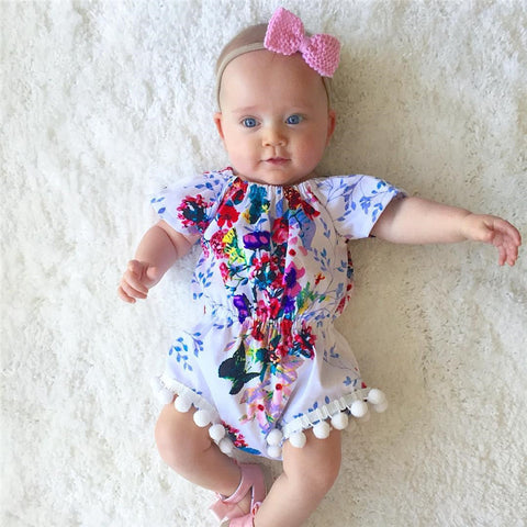 Lovely  Floral ball Rompers Playsuit