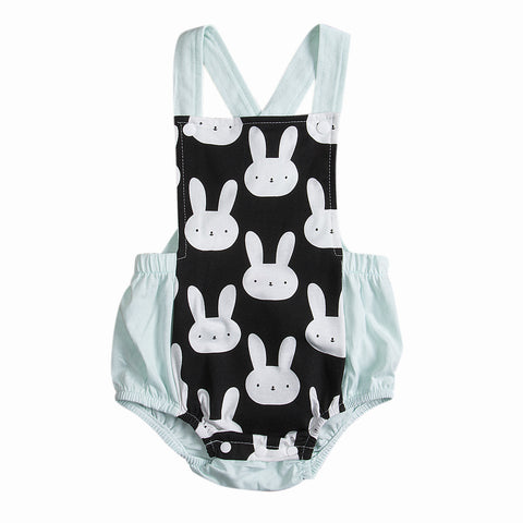 Rabbit back cross Romper