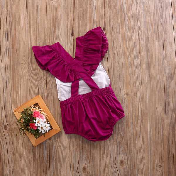 Purple Romper 0-18M