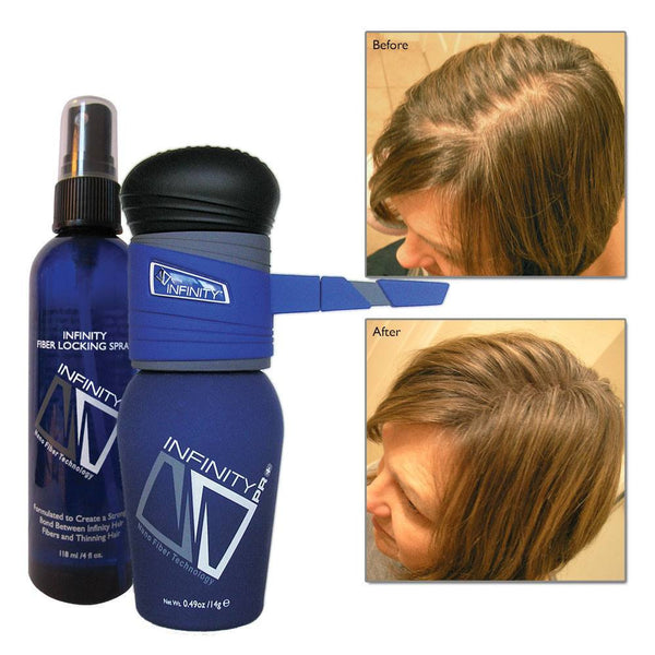 Home,Brands,Hair Loss - Infinity Hair Fibers Hair Loss Concealer + FREE Pump &  Spray