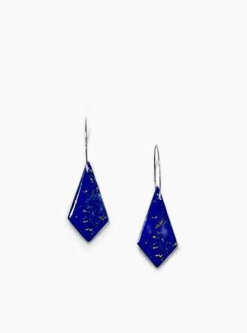 Comet Earrings (Lapis Lazuli)