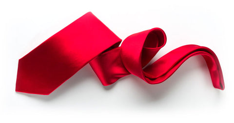Beautiful red silk tie