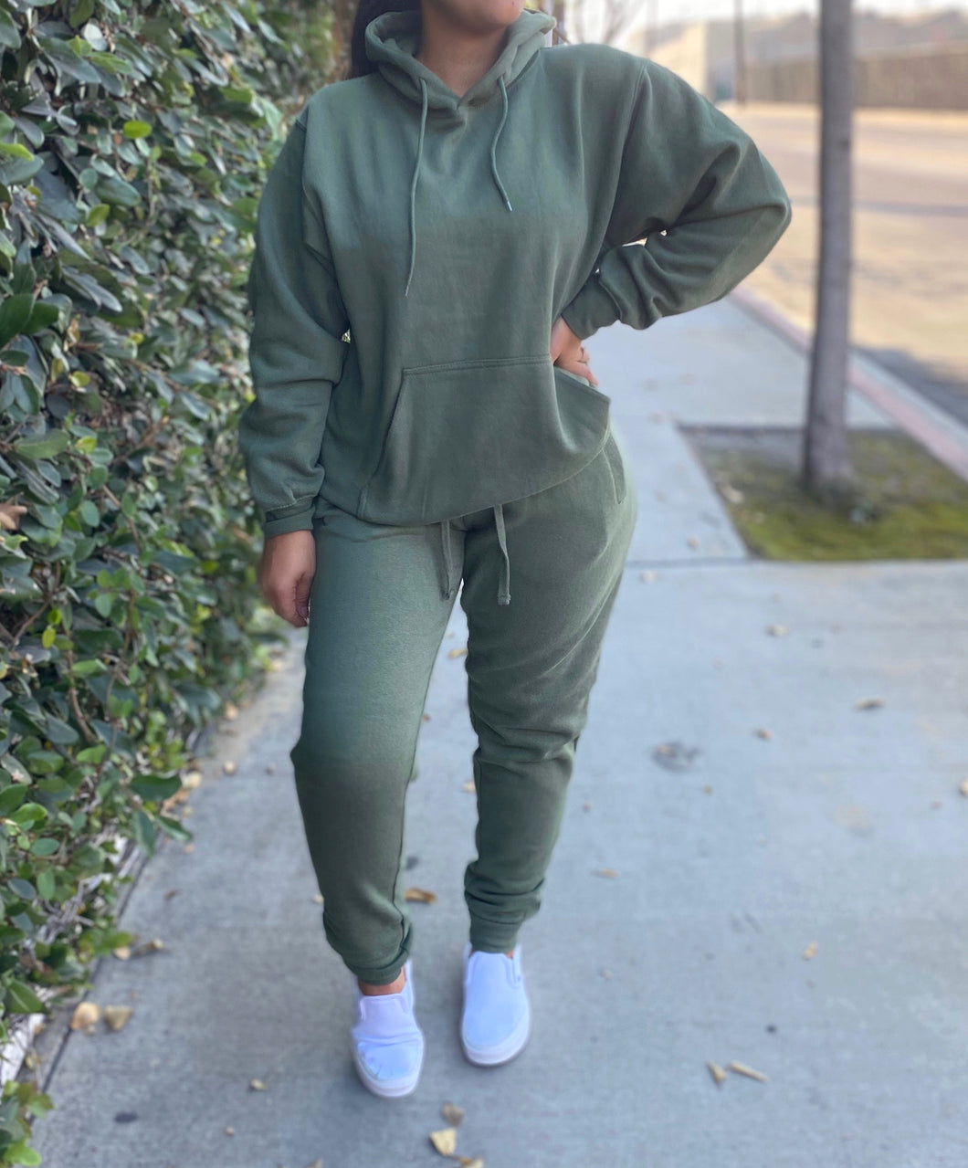 Mabel jogger set (olive)