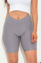 Butt lifting biker shorts (grey)