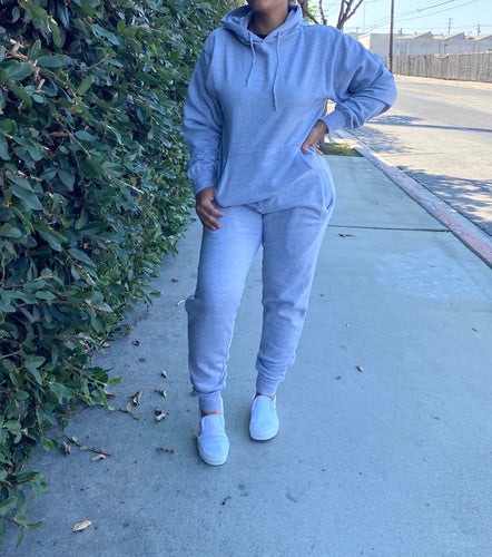 Mabel jogger set (heather grey)
