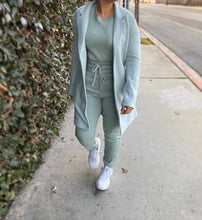 On the run coat (mint)
