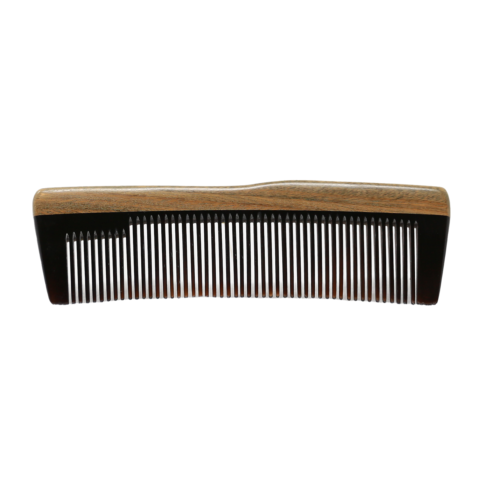 Square Ox Horn and Sandalwood Beard Comb