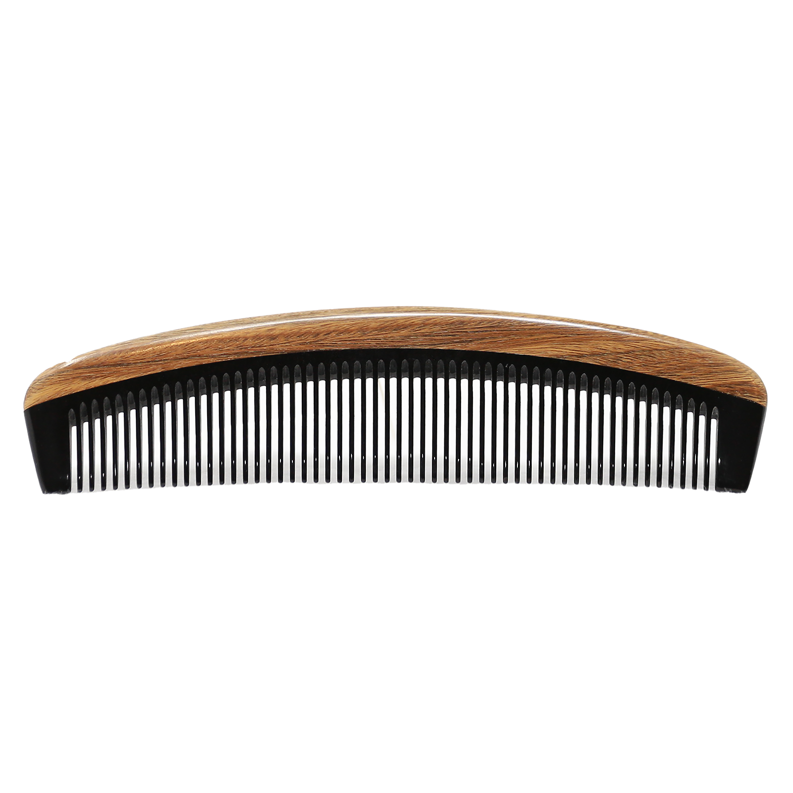 Round Ox Horn and Sandalwood Beard Comb