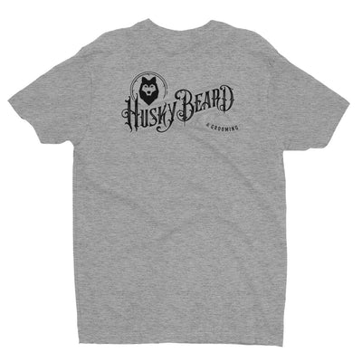 Husky Beard & Grooming T-shirt Large Logo on Back