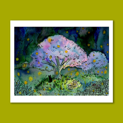 Dream of the Firefly Dance Art Print