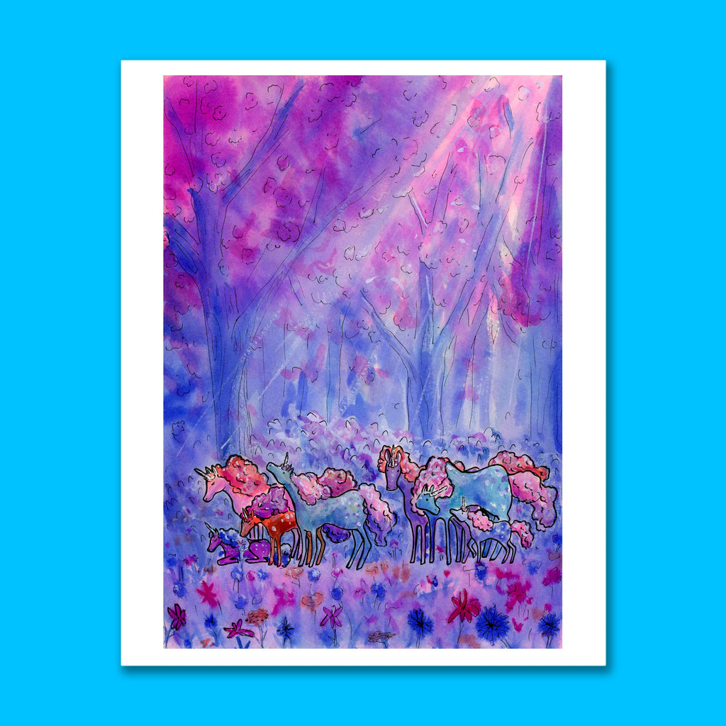 Midnight Forest Art Print