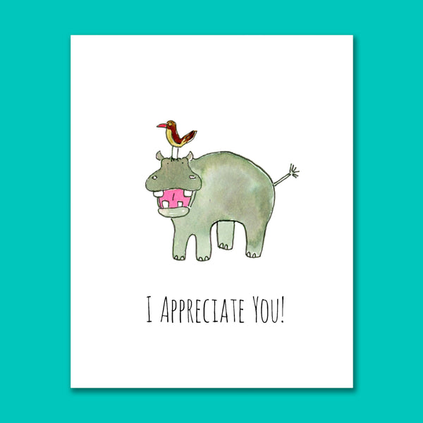 I Appreciate You 8X10 Art Print