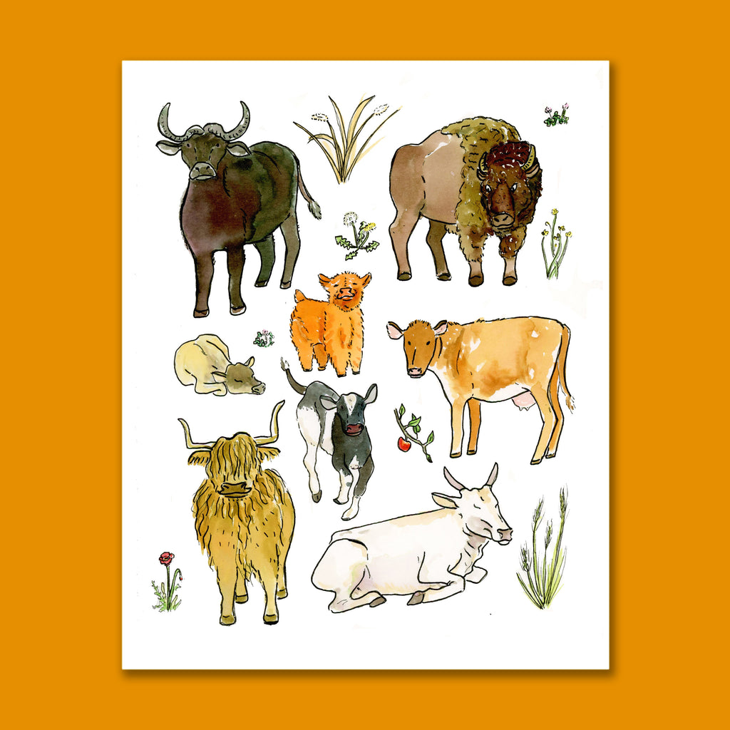 Year of the Cow Art Print