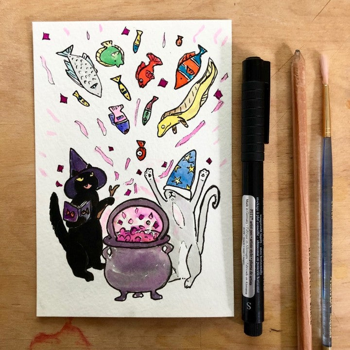 Cat's Cauldron Original Painting