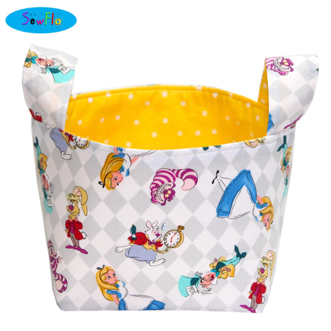 Alice in Wonderland Storage Basket