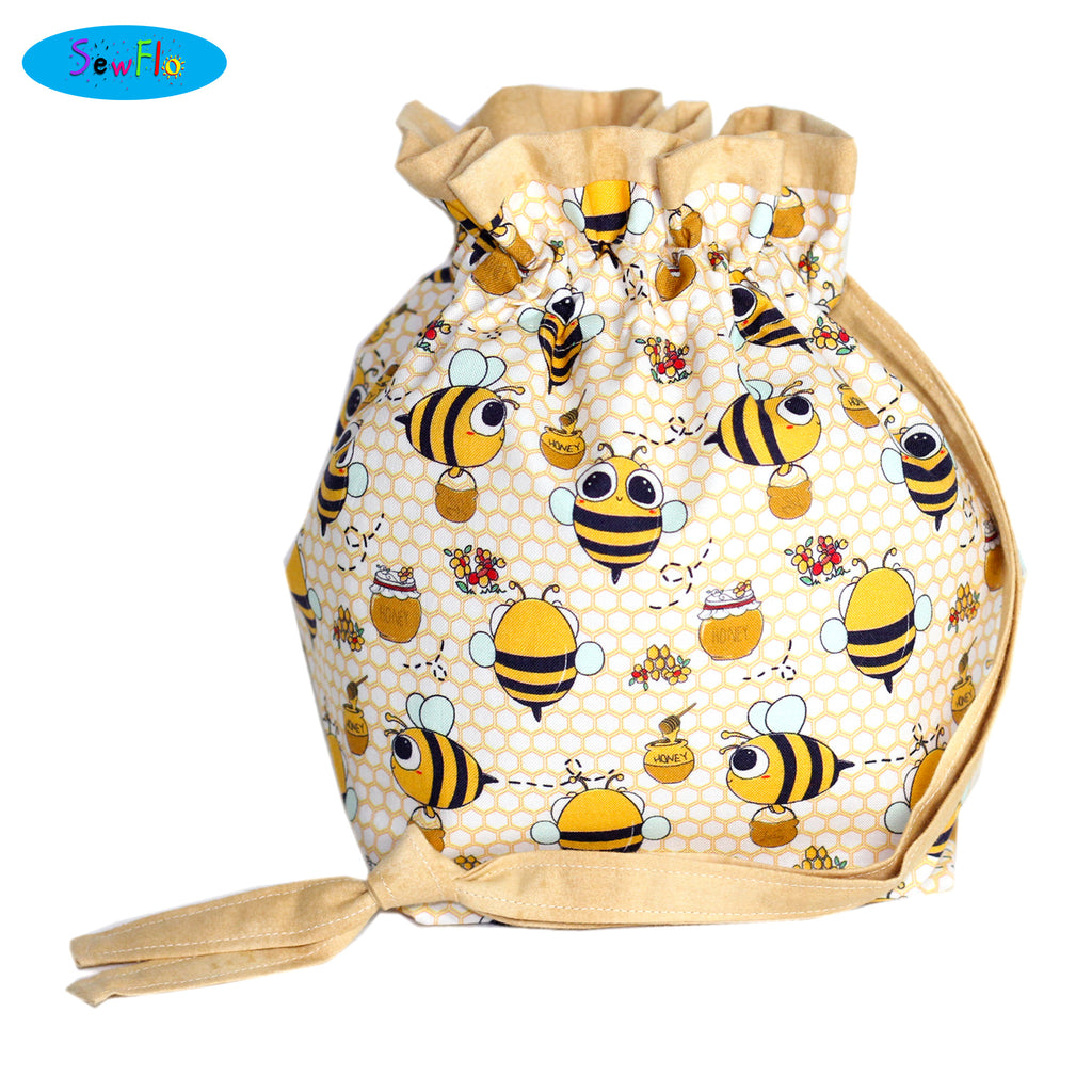 Half Giant Knitting Bag-Kawaii Bees