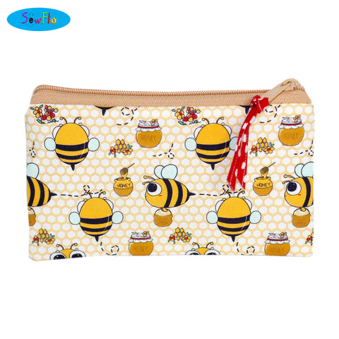 Kawaii Bees Zip Bag
