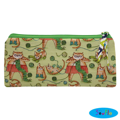 Cats Knitting Pencil Pouch Misfit