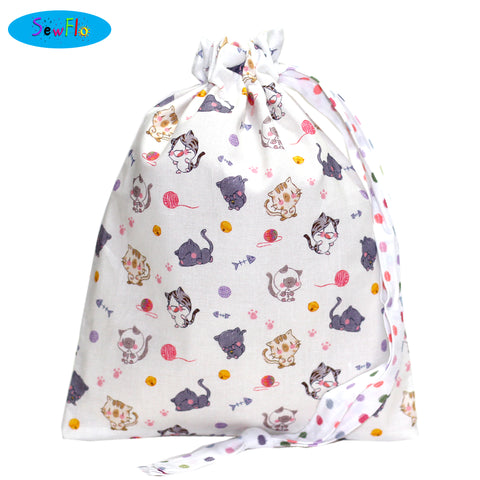 House Elf Knitting Bag-Chibi Cats