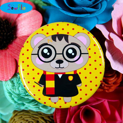 Barry Potter Button Pin