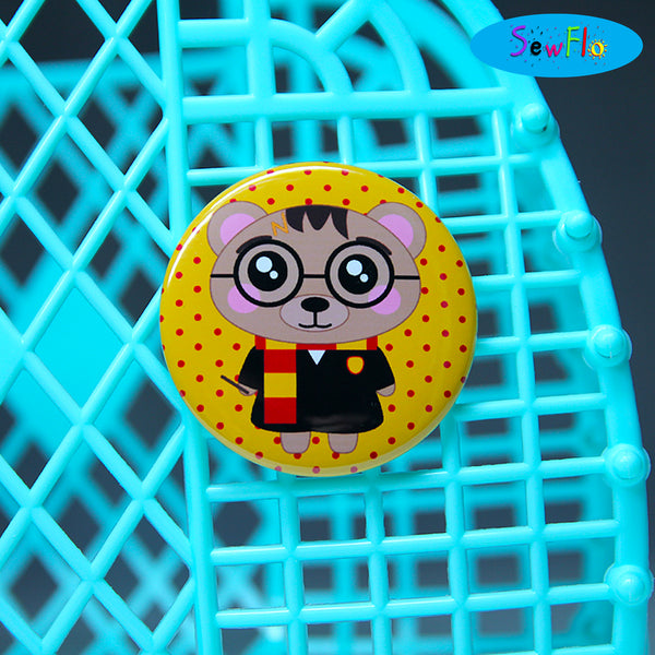 Barry Potter Button Pin - SewFlo