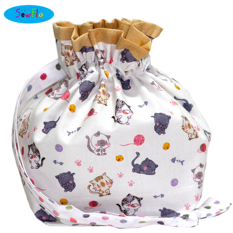 Half Giant Knitting Bag-Chibi Cats