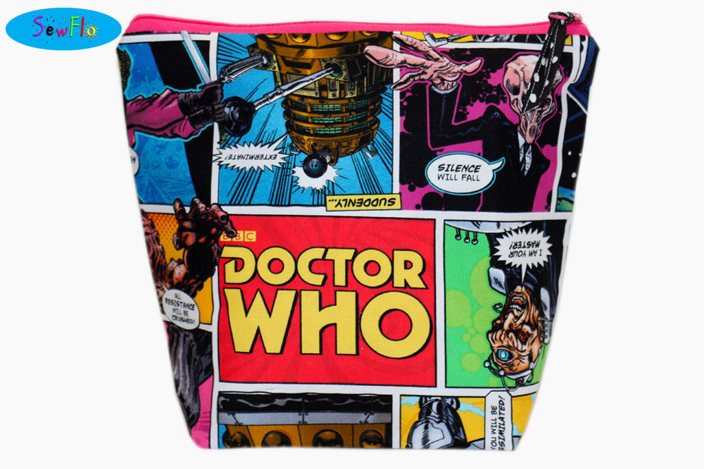 Medium Wedge Knitting Bag-Doctor Who