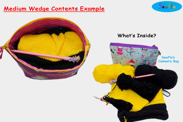 Medium Wedge Knitting Bag-Kawaii