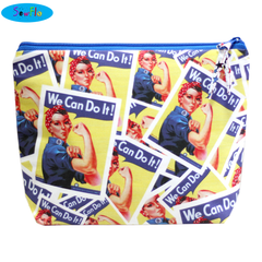 Small Wedge Knitting Bag-Rosie the Riveter