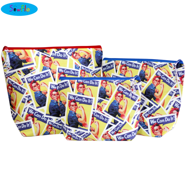 Medium Wedge Knitting Bag-Rosie the Riveter