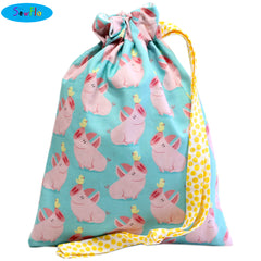 House Elf Knitting Bag-Cute Pigs