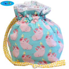 Half Giant Knitting Bag-Cute Pigs