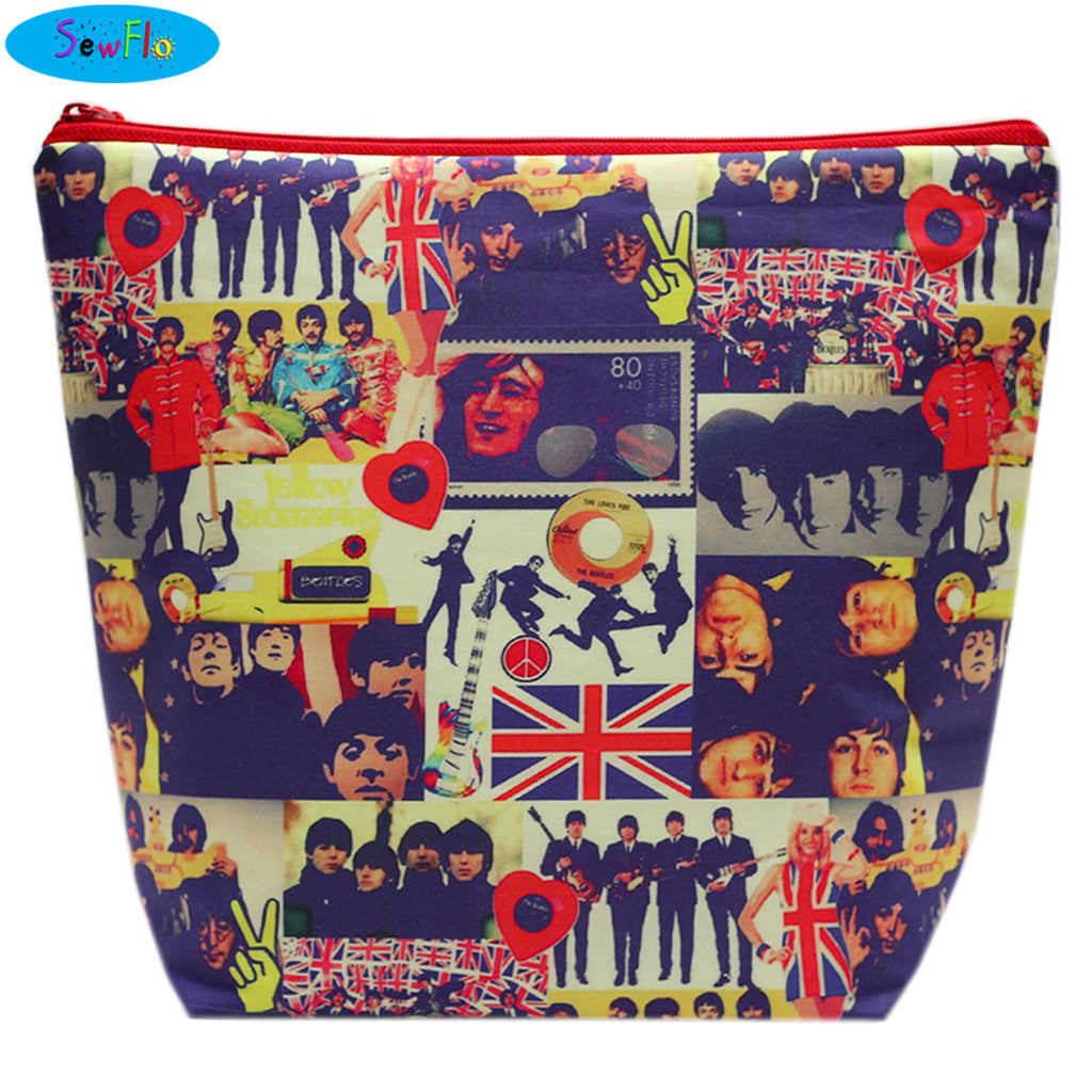 Large Wedge Knitting Bag-The Beatles