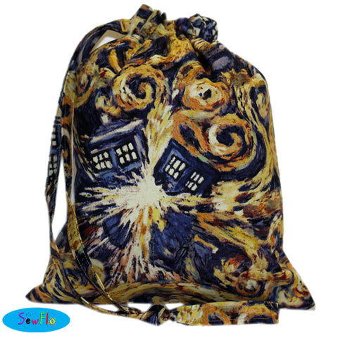 House Elf Knitting Bag Misfit-Exploding TARDIS