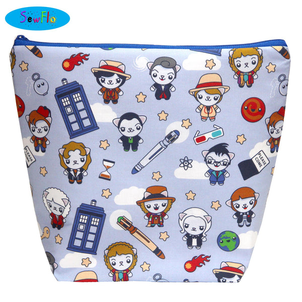 Large Wedge Knitting Bag-Doctor Who Cuties