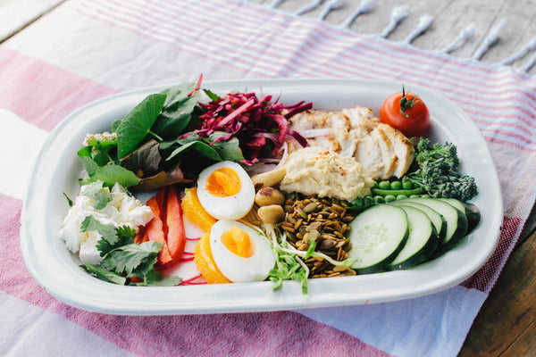 Nourish Bowl with Homemade Hummus Recipe