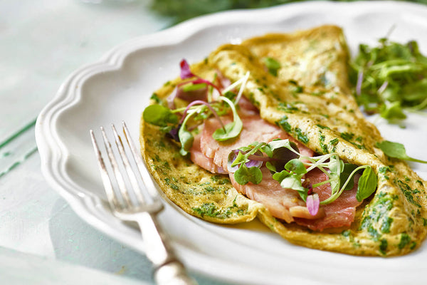 Green Egg and Ham Crepe Recipe