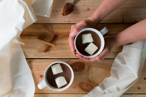 Cacao Hot Chocolate with Peppermint Recipe