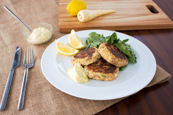 Seasonal Autumn Salmon Parsnip Cakes Recipe